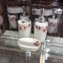 Kit De Banheiro 3 Peças Porcelana/ Decoração /flores