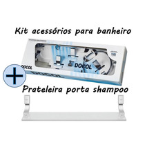 Kit Acessórios Para Banheiro Top 5pçs + Prateleira Top Docol