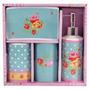 Kit Para Banheiro Cerâmica 4 Peças Estampa Decoração Luxo