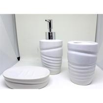 Kit Conjunto Jogo De Banheiro Lavabo De Porcelana Completo C