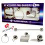 Kit Acessórios Banheiro Classi 5 Peças Em Alumínio.