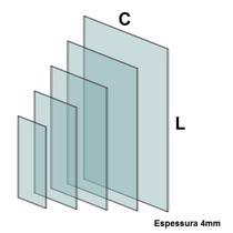 Vidro Para Balcão Modulado Temperado Incolor 4mm (30x50cm)