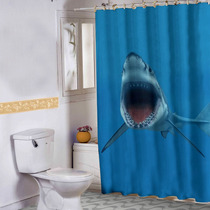 Cortina Banheiro Haus For Fun Shark Attack 02 150x180 Cm