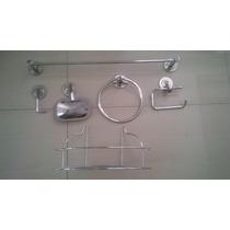 Kit Inox C/porta Shampoo Cromado