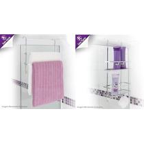 Kit Sportes P/ Box 1 Suporte Toalha + 1 Suporte Shampoo