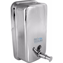 Dispenser Inox Liquido E Alcool Gel C/ Chave 1300 Ml Maos
