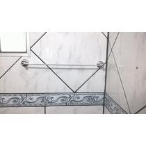 Porta Toalha Reto Em Alumínio Polido 44cm Oferta