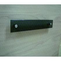 Porta Toalha Rosto 30x10 De Vidro Fumê Lapidado 10mm
