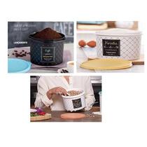 Kit Tupperware Caixa Farinha+feijão+café Da Linha Bistrô