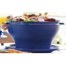 Tupperware Tig Sensação 4 Lt - Saladeira Azul E Vermelho