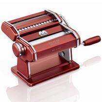 Máquina De Macarrão Atlas 150 Red Italiana Marcato Vermelha