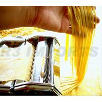 Maquina De Macarrão Inox Cilindro De Massas Lasanha Talharim