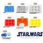 Kit 7 Formas De Silicone Star Wars Para Chocolate Gelo Festa