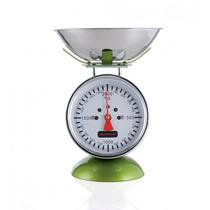 Balança De Cozinha Farol Brandani Aço Inox Verde 2kg 16x17