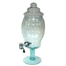 Suqueira De Vidro Com Torneira - Transparente - 5 Litros
