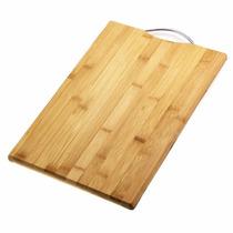 Tabua De Corte Carne Bambu Churrasco Com Alça 36x26 Cozinha