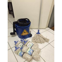 Balde Espremedor C/ Pedal Esfregão Limpeza Spin Mop