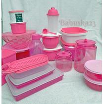 Tupperware Kit Com 20 Produtos Cor De Rosa - Tupper Show
