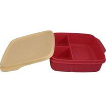 Tapuer Marmita Com Divisórias Vermelha - Tupperware