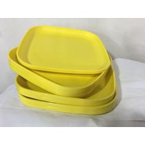 Pratos Tupperware Amarelo P Entrega +nf