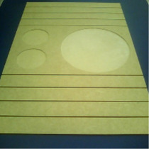 Bandeja Com Porta Copos E Prato Para Sofa 36-l X 55-c X 6mm