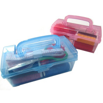 Maleta Kit Costura Organizador De Plástico 15 Ítens Portátil