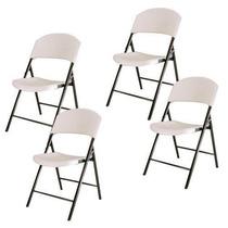 Kit 4 Cadeira Dobrável Maxchief Assento Plástico - Import