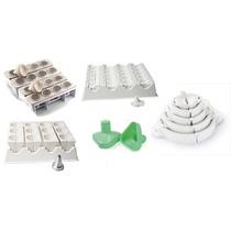 Kit Formas Modeladora Fábrica De Coxinhas + Kit Fecha Pastel