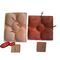 Petisqueira De Bambu De Madeira Giratória Com 5 Repartições
