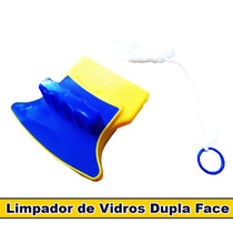 Limpa Vidros Magnético Rodo Mágico Dupla Face C/ Super Ímã