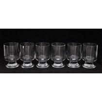 Ll Jogo 6 Taças Para Suco Em Vidro Transparente Cchic