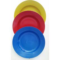 Prato Plastico Merenda Escolar Caixa C/100 Unidades Sortidos