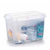 Kit 3 Caixas Plásticas Organizadoras Com Tampa 50 Litros