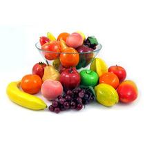 Pacote 12 Frutas Artificiais - Decoração Isopor Sem Plástico