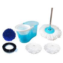 Balde Centrifuga Perfect Mop 360º Com 5 Refis Mop Limpeza