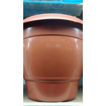 Vaso Para Plantas Plastico Redondo 21 Litros Marron