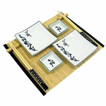 Kit De Comida Japonesa Para 2 Pessoas - 29x12x3 Cm