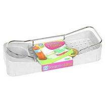 Porta Detergente E Esponja Plastico/açocromado Arthi