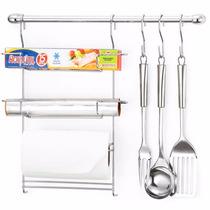 Kit Suporte Cozinha Cook Home Arthi 6 Porta Toalha
