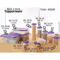 Tupperware Kit Modular 10 Pçs Ideal P/ Armazenar Mantimentos