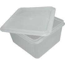10 Caixas Plastica Marfinite Com Tampa 1,7 Litros