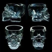 Kit 4 Copos Caveira - Cranios Ossos Vasos Cristal Vidros