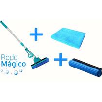Kit Rodo Mágico 28 Cm (rodo+refil+tolha Pva) Super Limpeza