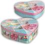 Conjunto De 2 Latas Coração Cupcake Azul - Espaço Organizado