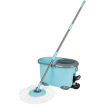 Esfregão Mop Circular E Balde Com Pedal Limpeza Prática Mor