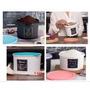 Kit Tupper Caixa Arroz+feijao+cáfe E Açúcar Da Linha Bistrô