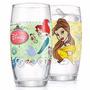 3 Copo Infantil Princesas Bela, Branca De Neve, Ariel Disney