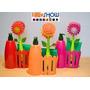 Conjunto De Escova Pia Flor C Vaso Super Luxo Decora Enfeite