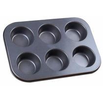 Forma De Cupcake 6 Cavidades Teflon Antiaderente Promoção