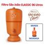 Filtro Barro 06 Litros - São João Classic Cerâmica Stéfani